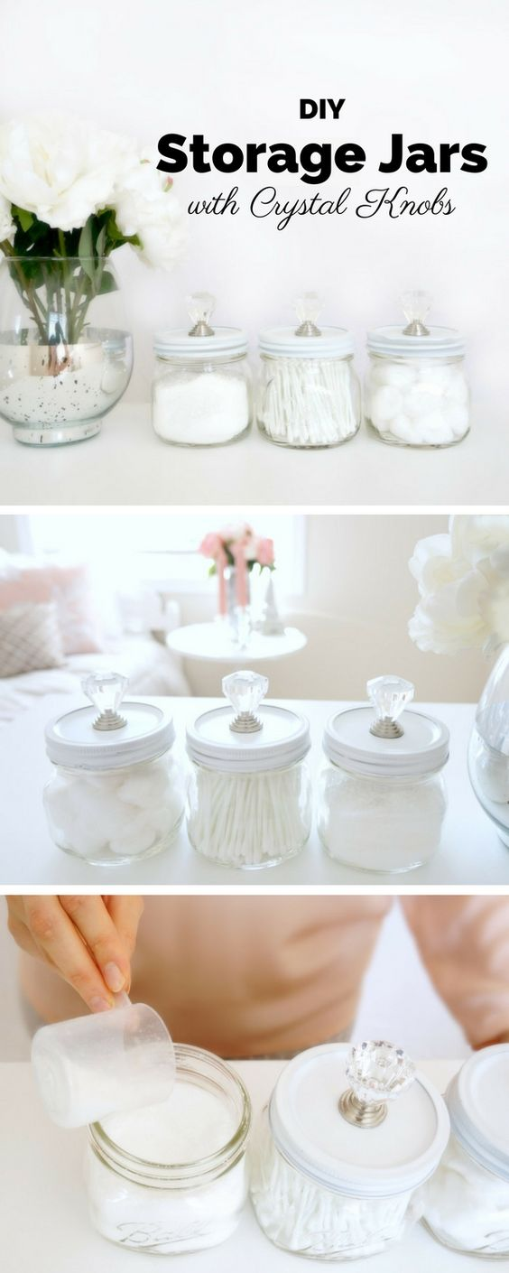 Check out the tutorial: #DIY Storage Jars with Crystal Knobs @istandarddesign