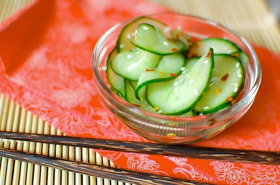 Asian Marinated Cucumbers: Abandon Asian, Cucumber Salad, Asian Cucumber, Marinated Cucumbers, Rice Vinegar