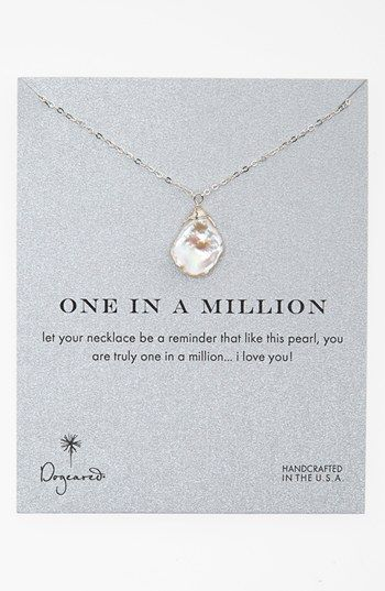 dogeared one in a million boxed keshi pearl necklace