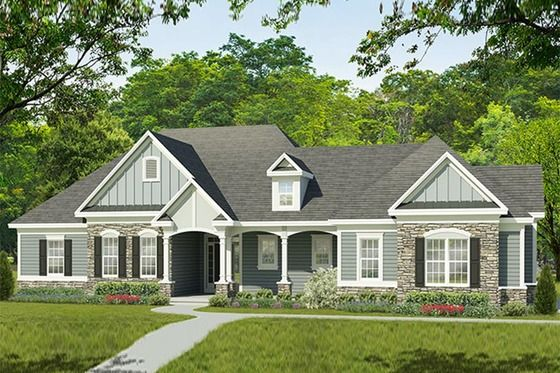 Ranch Style House Plan 3 Beds 2 5 Baths 2333 Sq Ft Plan 1010 195 Ranch Style House Plans Ranch House Exterior Ranch Style Homes