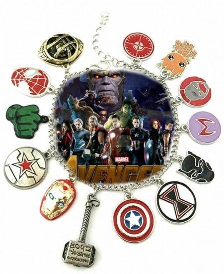 Avengers Infinitywar 11 Themed Charms Metal Bracelet Marvel Accesorios Joyeria