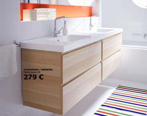 Meuble Vasque Salle De Bain Ikea : Lavabos doubles, Meuble-lavabo double and Éviers on Pinterest