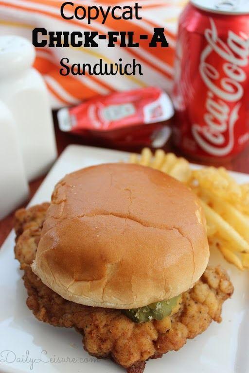 Copycat Chick-fil-A Sandwich #copycat #recipe  #chickenrecipe