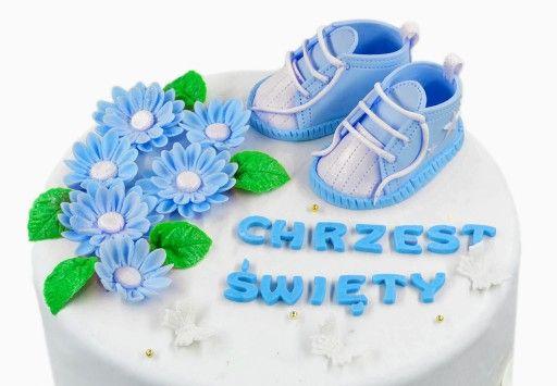 Dekoracja Ozdoba Na Tort Z Masy Cukrowej Chrzest 7975175577 Allegro Pl Baby Shoes Kids