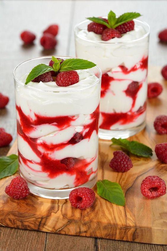 Raspberry White Chocolate Mousse Dessert Recipe Recipes