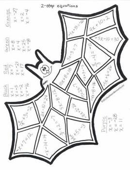 Middle school math art for halloween and thanksgiving for Halloween coloring pages middle school