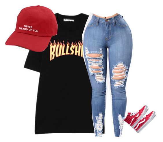 """""""bouce that ish like woah"""" by beautymyway360 on Polyvore featuring Vans"""