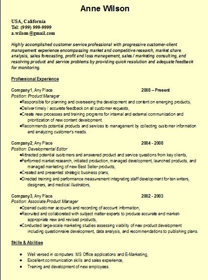 Production Editor Resume Resume Formats Resume_Writing On Pinterest