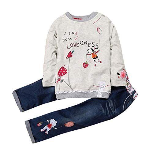 Cute Toddler Baby Halloween Cartoon Striped Print T-Shirt Tops+Pant Set Clothes