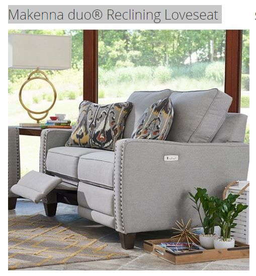 Makenna Duo Reclining Loveseat