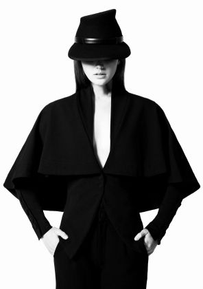 GAIL SORRONDA Polar Desert Jacket and Hat - What should shoes will hold their own next to these chic pieces?