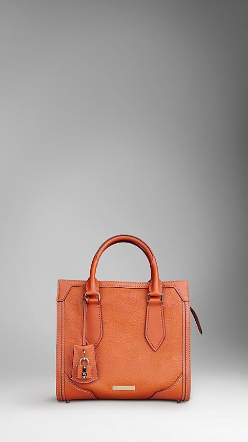 Petit sac tote en cuir grainé | Burberry