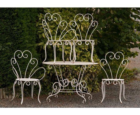 Salon De Jardin Annee 60 En Fer Forge 2 Chaises 2 Fauteuils 1