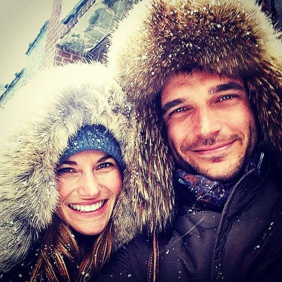 Winter strikes again❄️⛄️☔️#nyc #cold #rainysnowyshitty #lic #couple with @ginamariebusch keep warm!