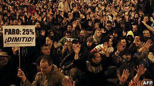En Madrid y Barcelona marchan contra los recortes