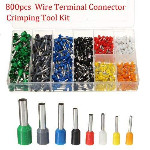 800pcs Assorted Crimp Terminal Insulated Electrical Wire Connector Set Case Kit Wire Connectors Electrical Wire Connectors Electricity