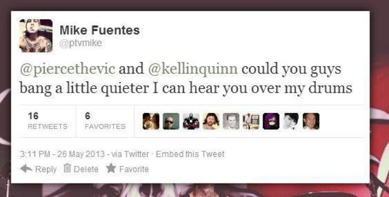 LOL- Mike Fuentes tweet bout Vic and Kellin