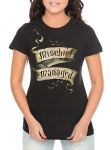 Harry Potter Mischief Managed Girls T-Shirt - http://geekarmory.com/harry-potter-mischief-managed-girls-t-shirt/