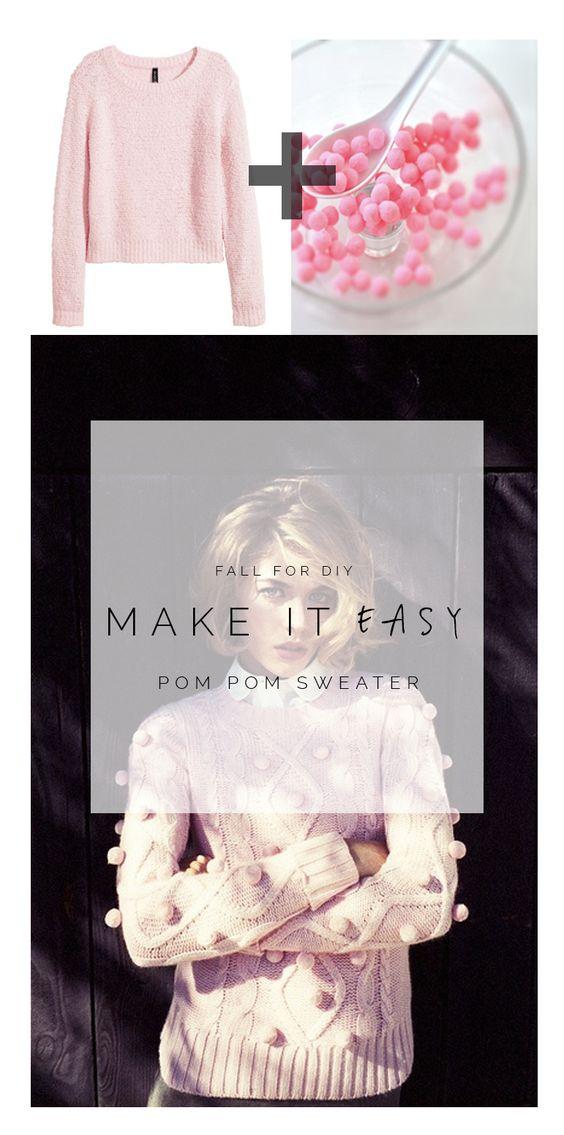 Make it Easy: Pink Pom Pom Sweater: