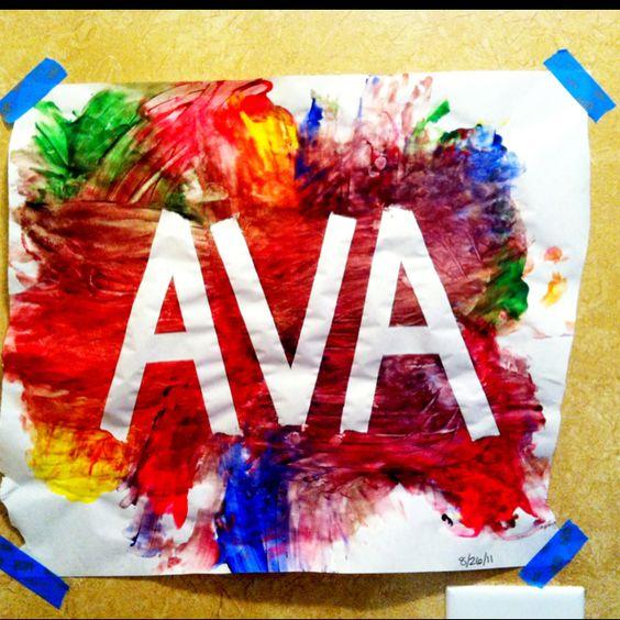 Classroom idea. Painters tape and finger paints.