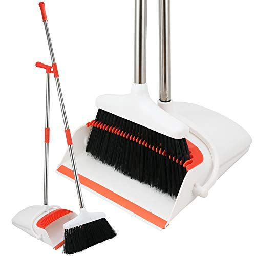 Broom And Dustpan Set Strongest No More Tears 80 Heavier Duty Upright Standing Dust Pan With Extendable Broomsti Broom And Dustpan Best Broom Dust Pan Dust pan and broom sets