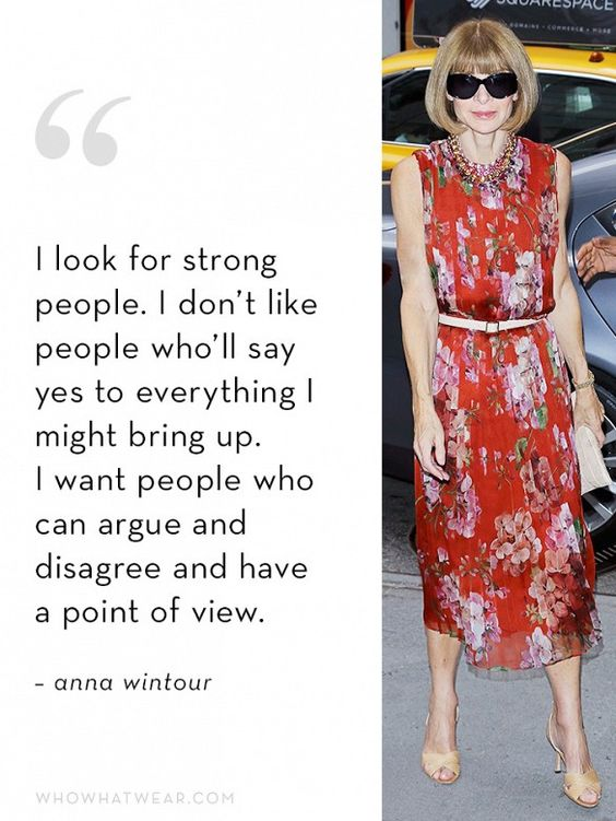 Anna Wintour's Ideal Employee Quality #3: A Point of View: