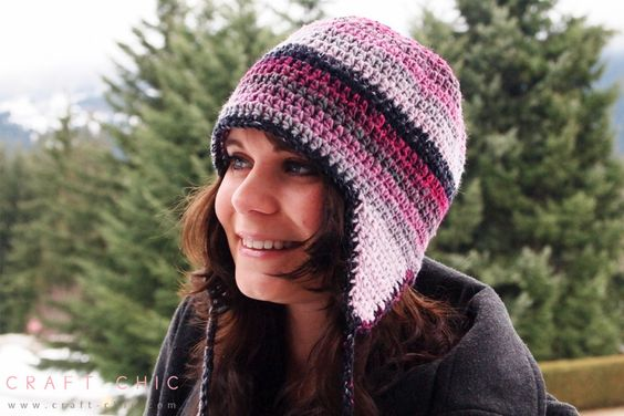 Free Crochet Patterns For Earflap Hats : Pinterest The world s catalog of ideas