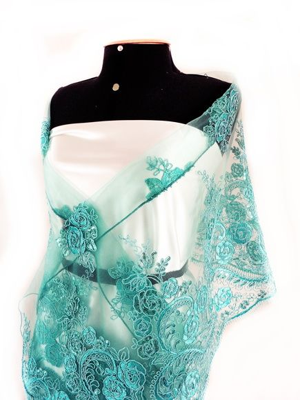 Echarpe Xale Azul Tiffany Moda Festa