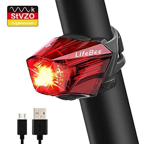 Lifebee Led Rucklicht Fahrradlicht Stvzo Zugelassen Us