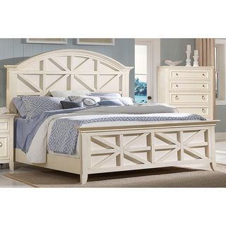Courtney Cottage White Contemporary Panel Bed overstock.com