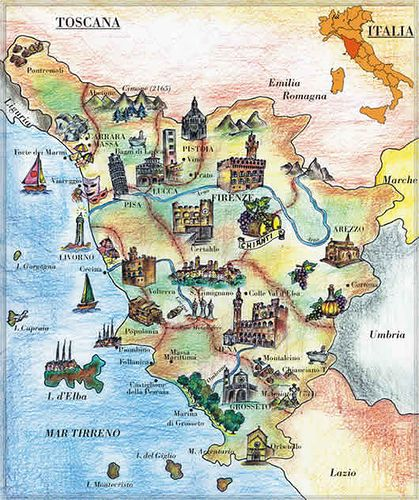 duronia italy map tuscany - photo#35