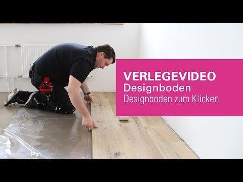 Wineo Klick Vinylboden Verlegen Verlegevideo Vinylboden Zum Klicken Designboden Youtube Vinylboden Vinylboden Verlegen Verlegen