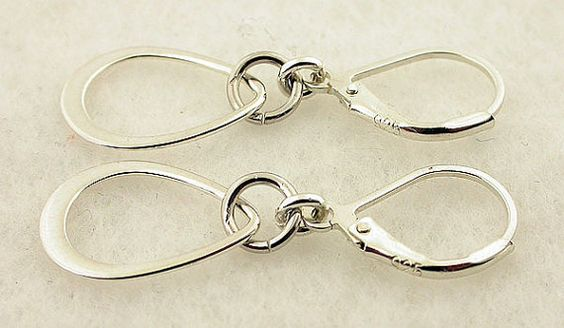 Sterling Silver Earrings Lever Back Earrings 01 by 57north on Etsy, $16.99
