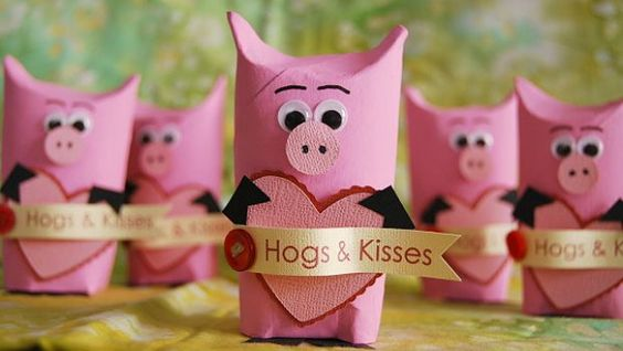 pig valentine's day box