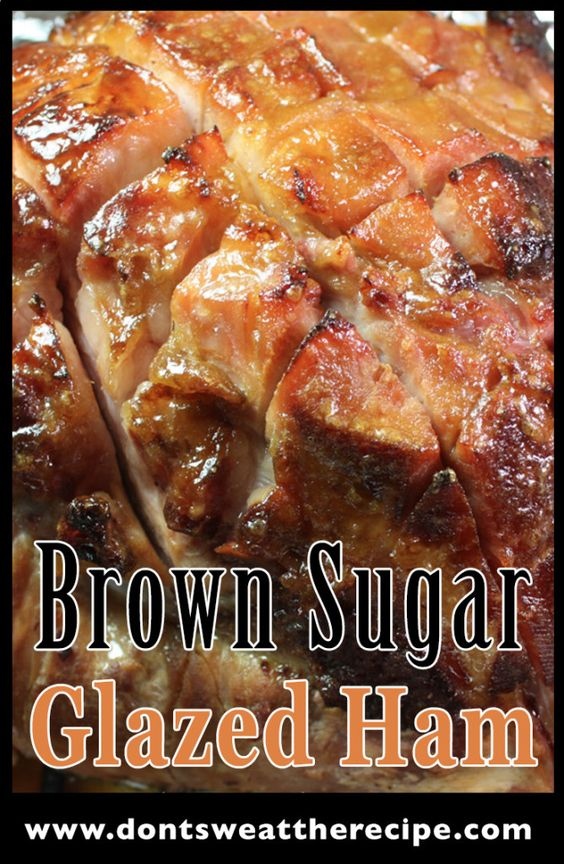 Brown Sugar & Mustard Glazed Ham - The easiest and most flavorful baked ham!: