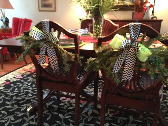 Christmas dining chairs