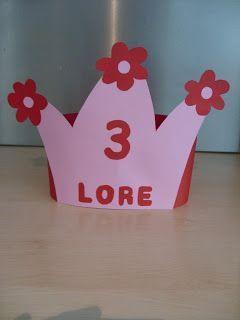 kroon met getal en bloemen