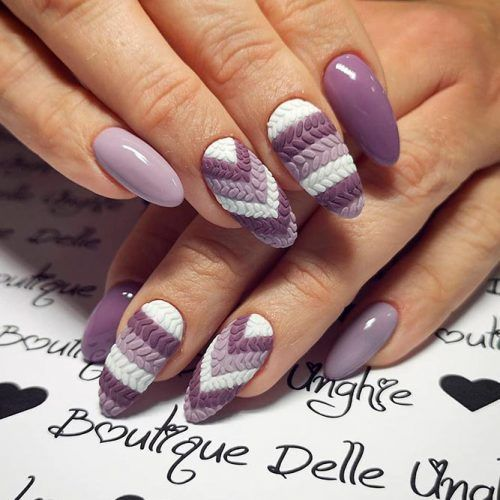 Exquisite Variations Of Winter Nail Colors For Your Unique Image In 2020 Nail Colors Winter Mauve Nails Multicolored Nails