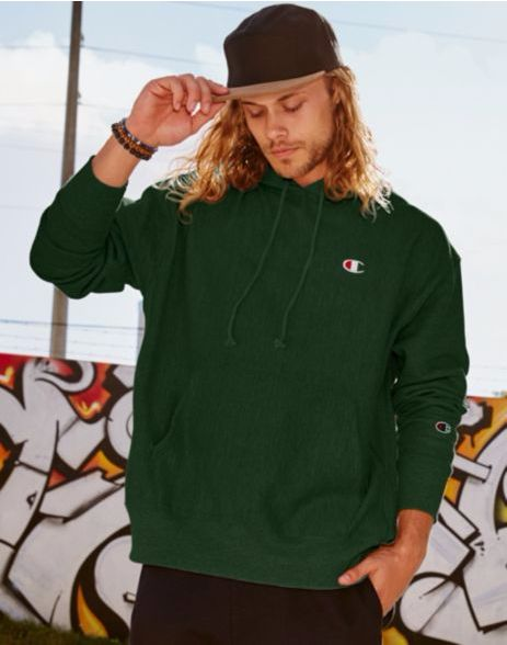 Champion Life Reverse Weave Men's Pullover Hoodie - Dark Green ...