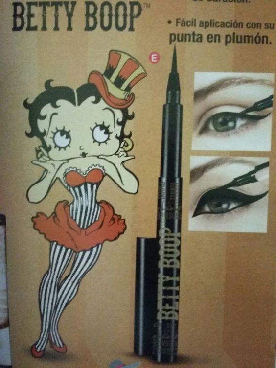 Delineador tipo plumón de Betty Boop