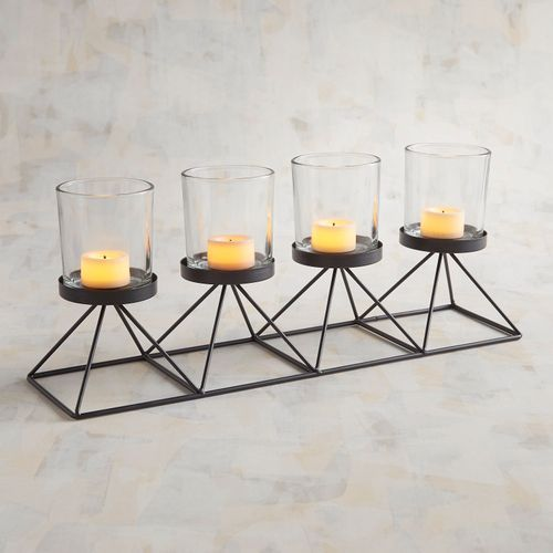 Black Metal Centerpiece Tealight Candle Holder Pier 1 Imports Tealight Candle Holders Glass Tea Light Holders Candle Holders