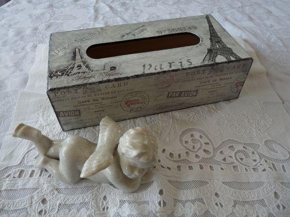 Bo te mouchoirs serviettage peinture patine altered box pinterest - Boite a mouchoirs casa ...