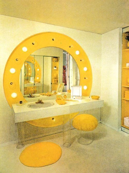 70er Jahre Badezimmer Dekor Retro Zuhause Vintage Einrichtungen