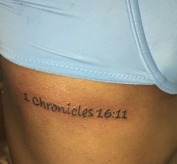 Bible verses and ribs on pinterest for Bible verse rib tattoos