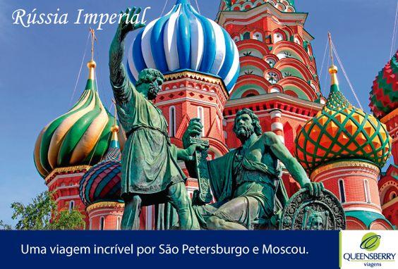 Explore as duas maiores cidades da Rússia, São Petersburgo e Moscou! O fascínio e a grandiosidade de uma rica herança cultural e arquitetônica. http://bit.ly/1ir87SD #QueensberryViagens #Russia #SaoPetersburgo #Moscou