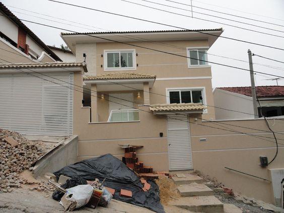 Construindo minha casa clean projeto da minha fachada com muros e - Fachadas De Muros Residenciais Com Textura Pesquisa