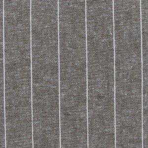 Tissu Chambray lin rayé havane x 10cm