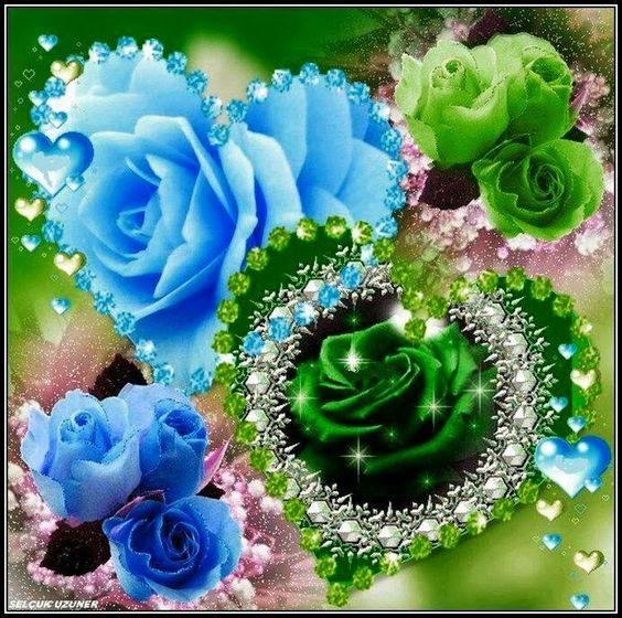 corazones y rosas: