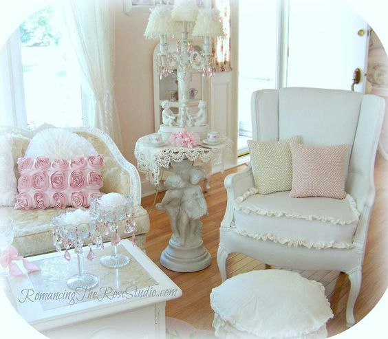Chic Chic The Chair Chairs Decor Shabby Chic Pink Living Rooms The O