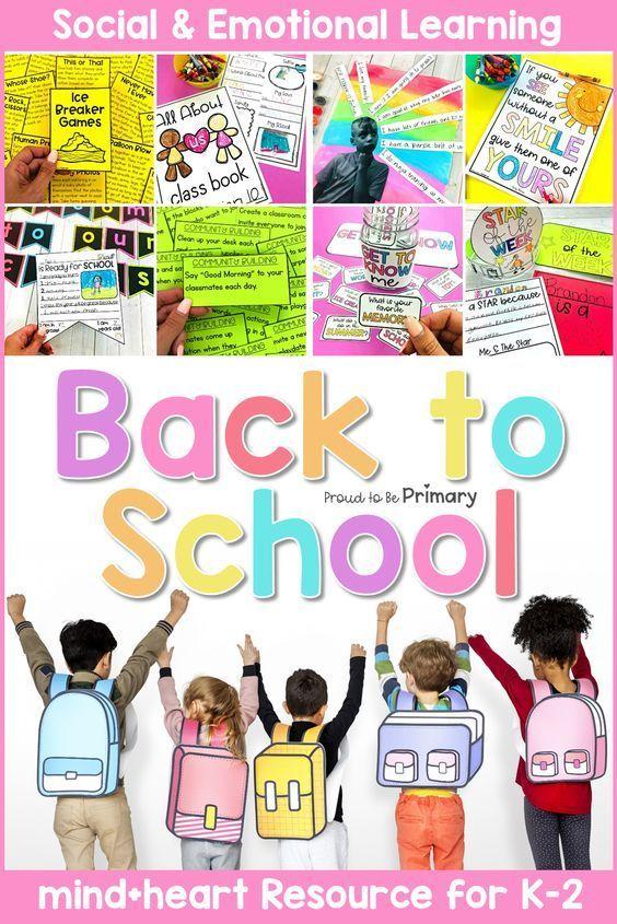 Back To School Community Building Social Emotional Learning Activities Sel K 2 Social Emotional Learning Social Emotional Learning Activities Teaching Social Skills
